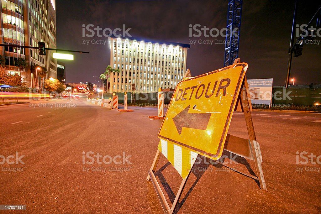 Detour stock photo