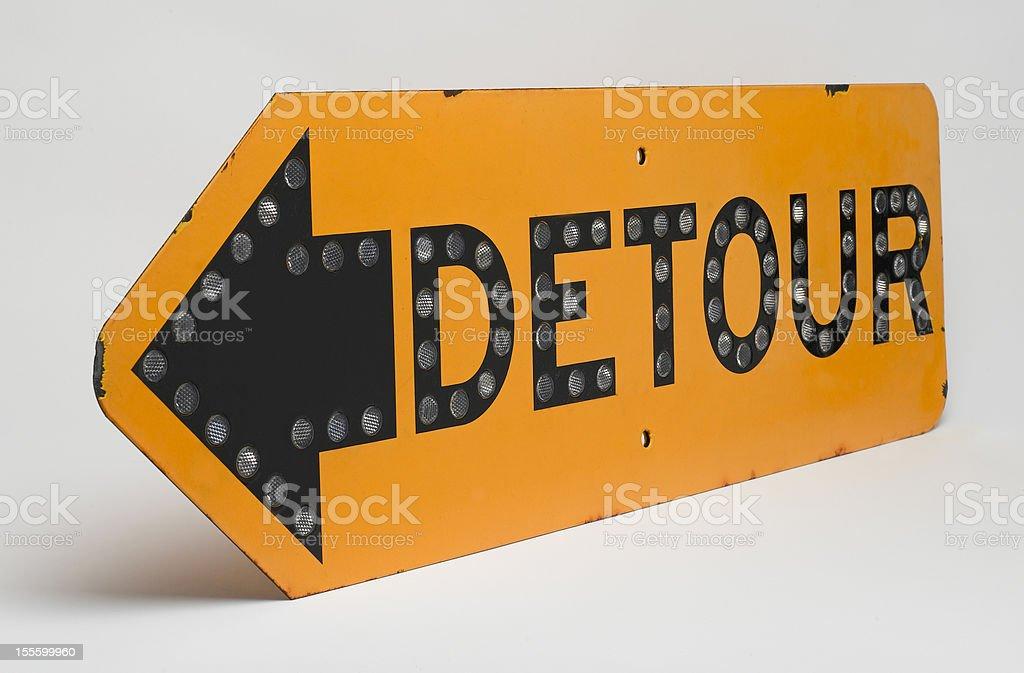 Detour Road Sign royalty-free stock photo