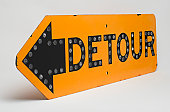 istock Detour Road Sign 155599960