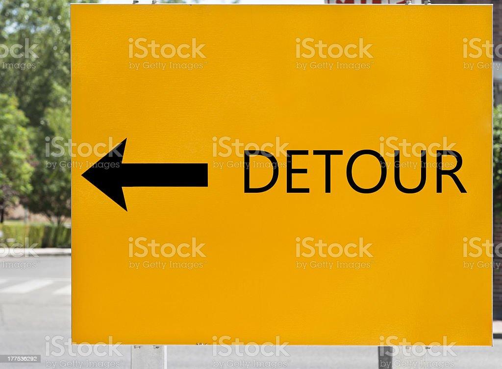Detour. Road sign. royalty-free stock photo
