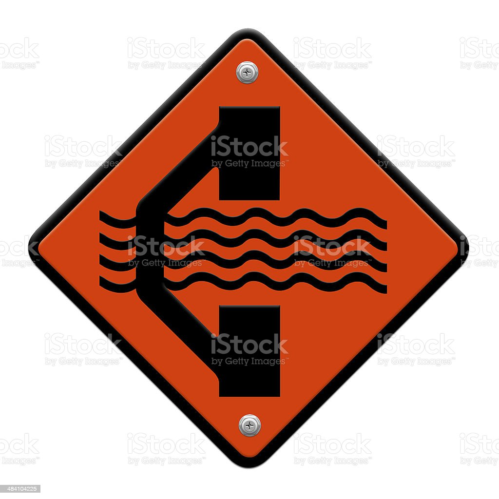 Detour traffic sign stock photo