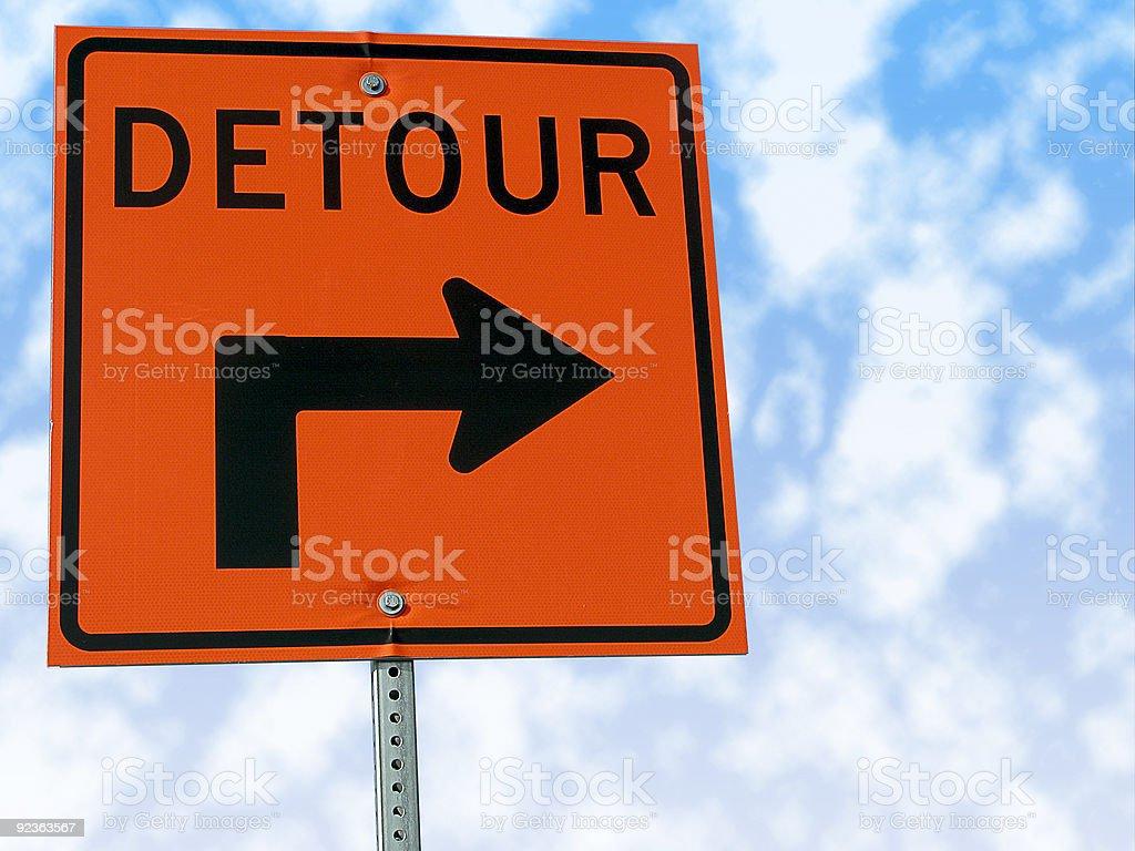 Detour traffic sign. stock photo