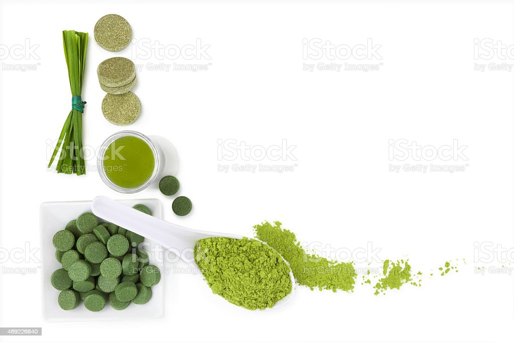 Detox background with copy space. stock photo
