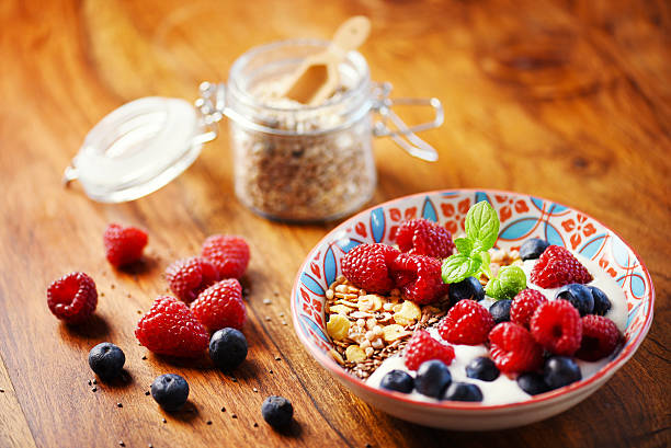 disfrute del desayuno - fibra dietética fotografías e imágenes de stock