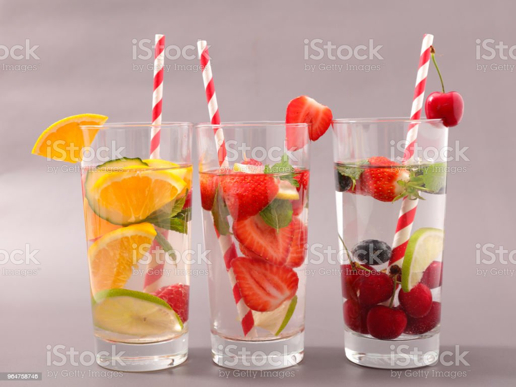 detox fruit cocktail royalty-free stock photo