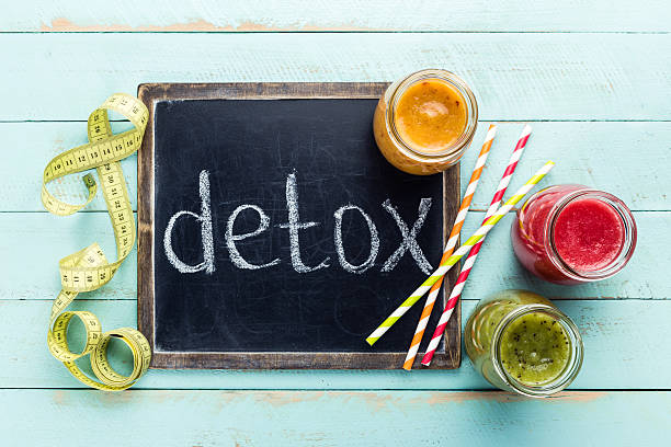 detox smoothie drinks - foto de stock