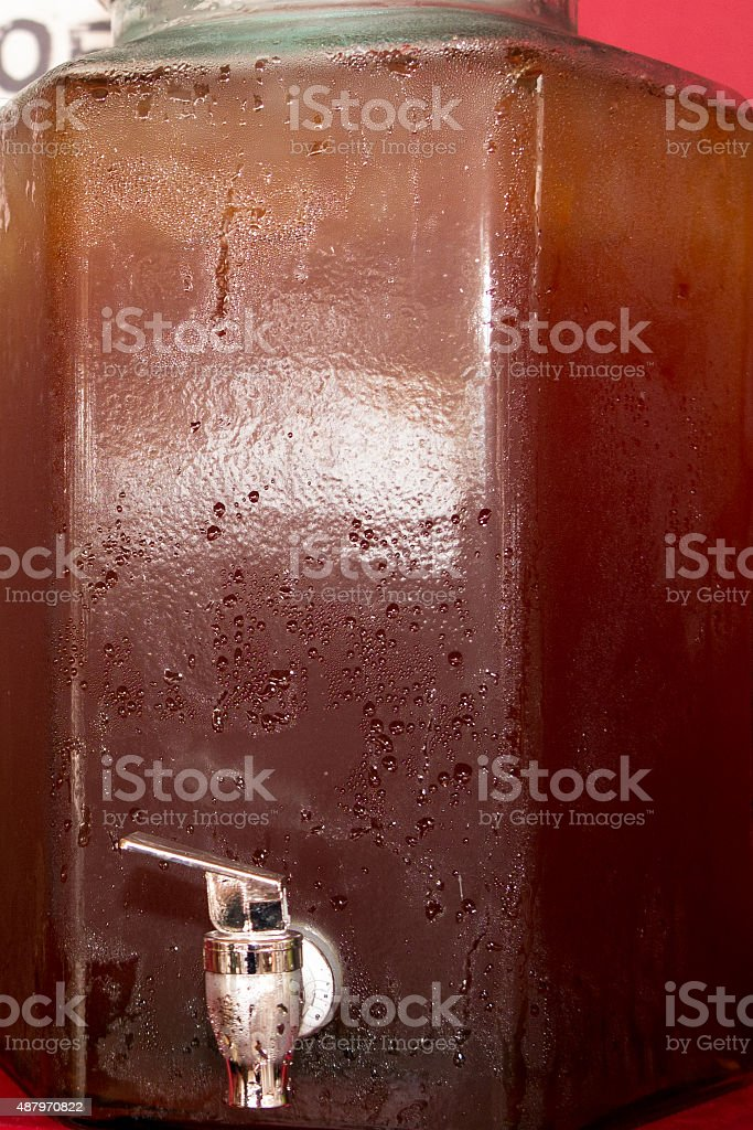 Detox Water Cocktail With Tea Fruits Stock Photo - Download Image