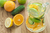 istock detox water with cucumber, lime, apple and orange for weightloss 951709774
