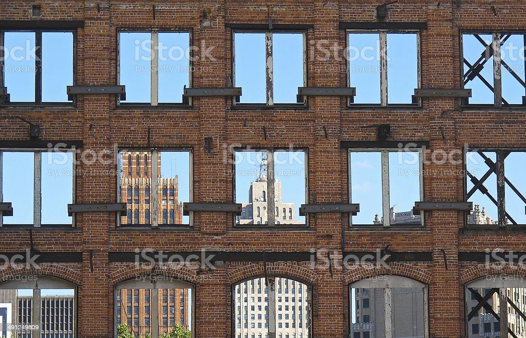 Detroit City royalty-free stock photo