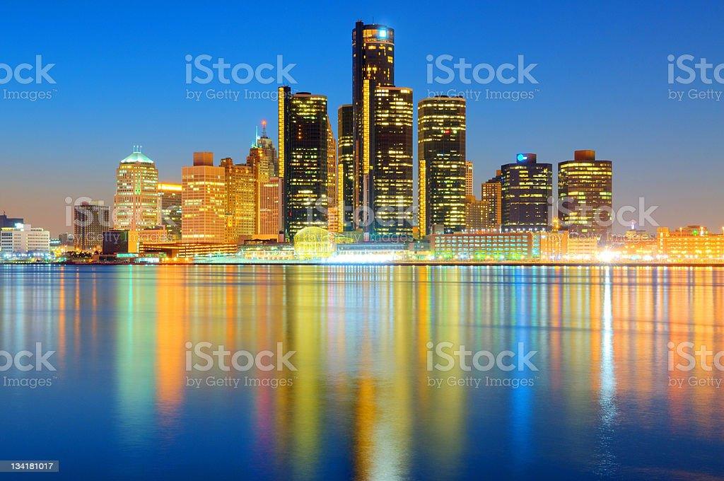 Detroit Cityscape / Skyline royalty-free stock photo