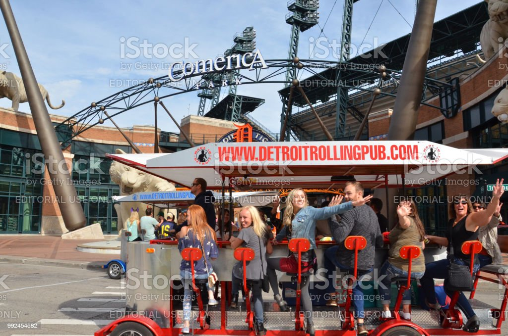 Detroit Comerica Park stock photo