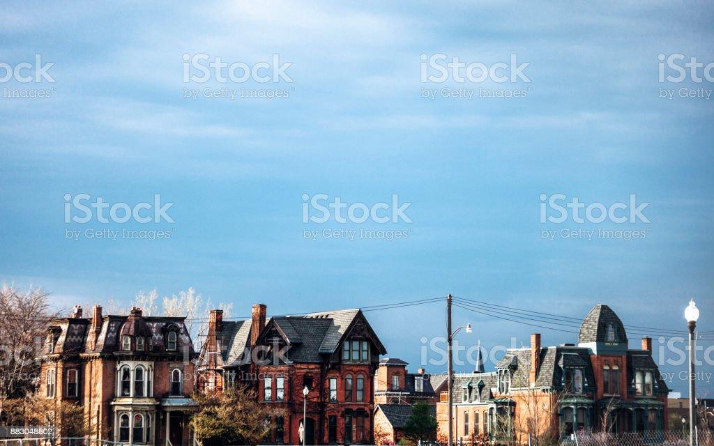 Detroit homes stock photo