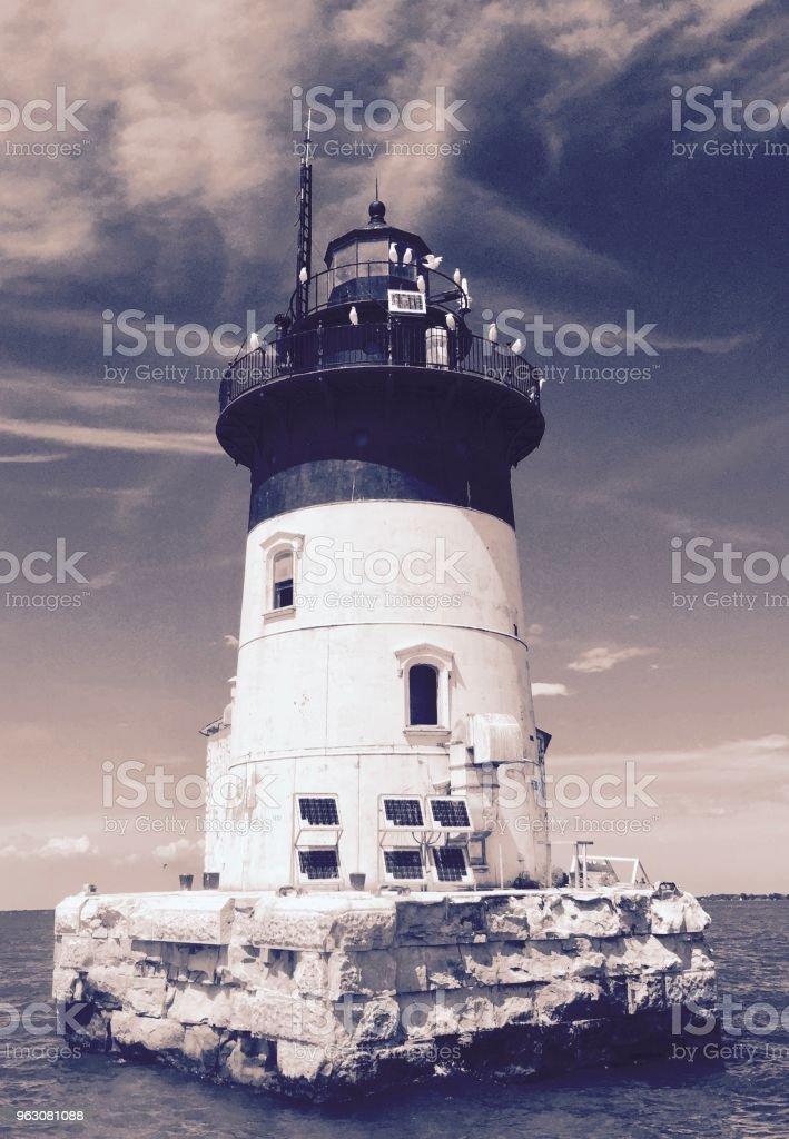 Detroit Lighthouse stock photo