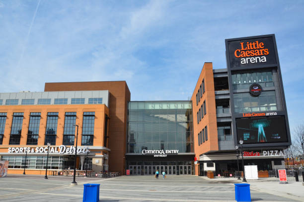 Detroit Little Caesars Arena stock photo