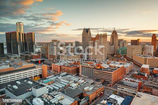 istock Detroit, Michigan, USA Downtown Skyline 1292589453