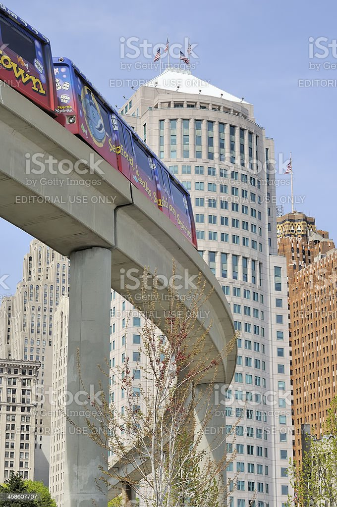 Detroit People Mover royalty-free stock photo
