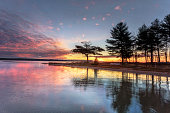 Detroit Point Sunrise November Reflections, Higgins Lake, Roscommon, Michigan