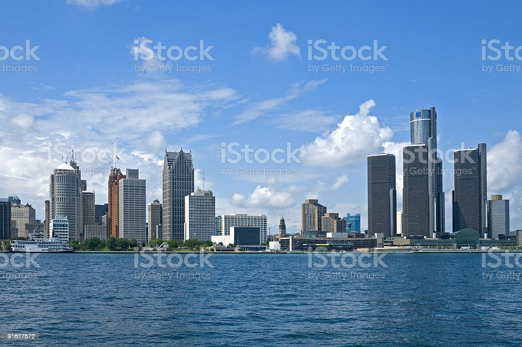 Detroit Postcard stock photo