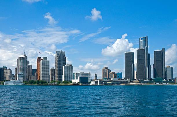 Detroit Postcard  detroit michigan stock pictures, royalty-free photos & images