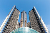 Detroit, USA -October 7, 2017: The Detroit Renaissance Center, headquarters of General Motors.