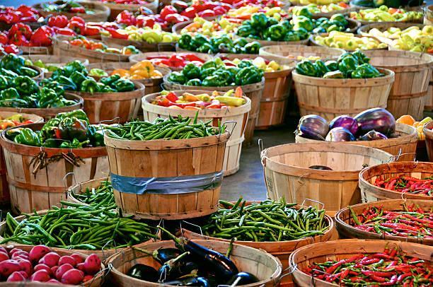 detroit's eastern market produce - 東方 個照片及圖片檔