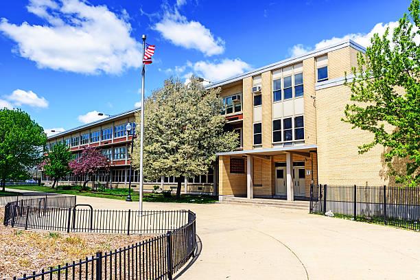 dett grundschule in chicago - grundschule stock-fotos und bilder