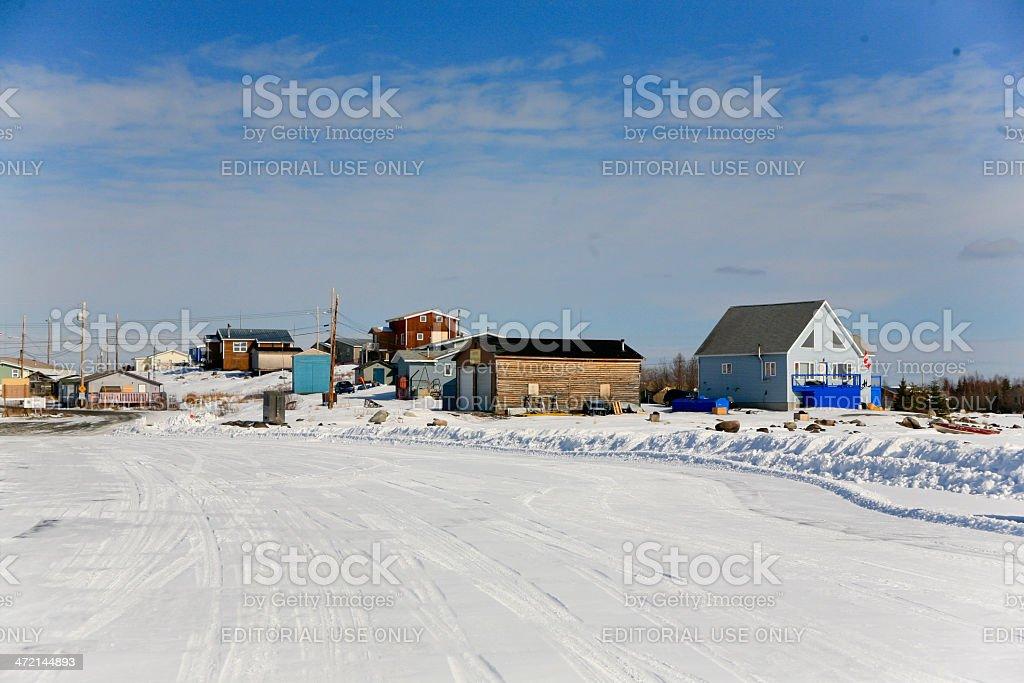 Dettah, a First Nations Village, Northwest Territories, Canada stock photo