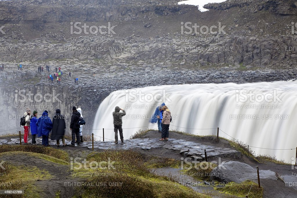 Dettifoss waterfall detail royalty-free stock photo