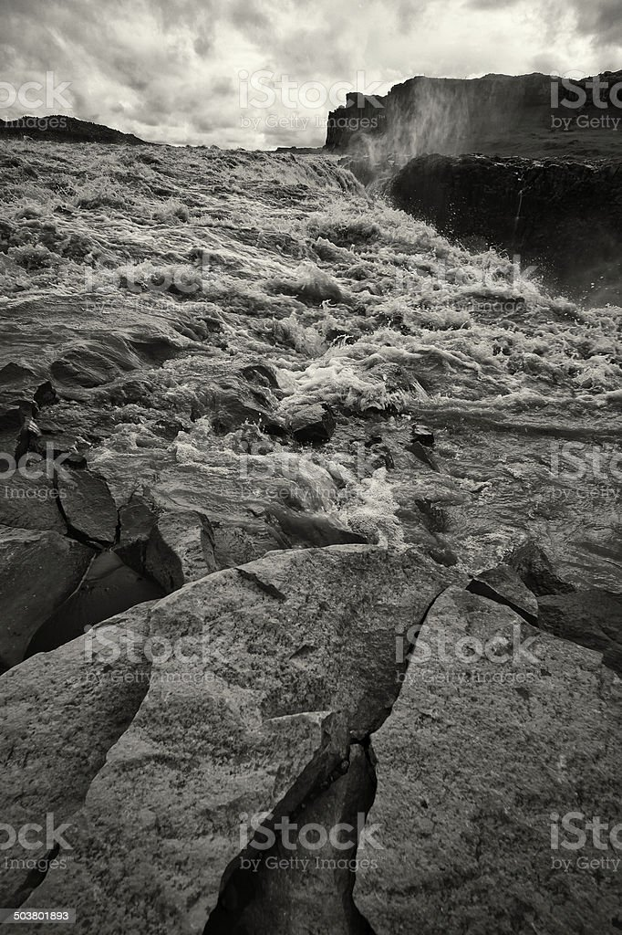 Dettifoss Waterfall in Iceland royalty-free stock photo