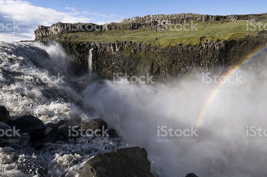 Dettifoss waterfall royalty-free stock photo