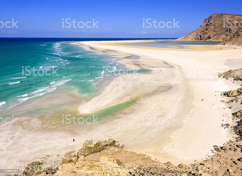 Detwah beach royalty-free stock photo