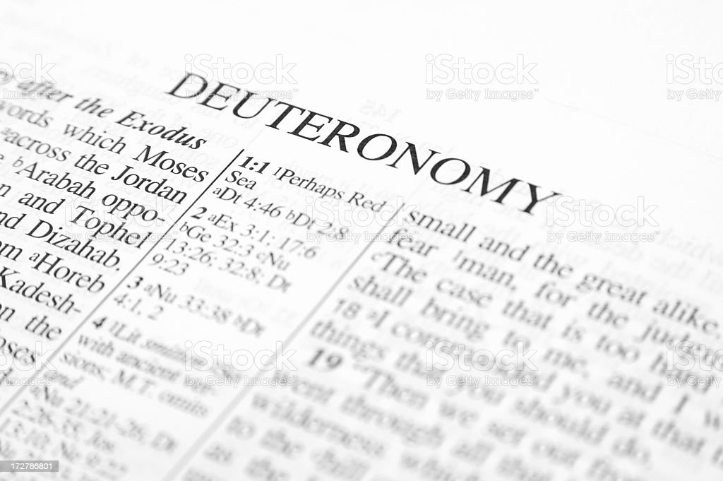 Deuteronomy stock photo