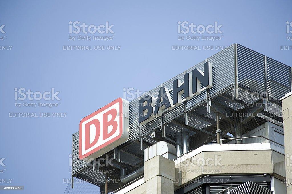 Deutsch Bahn AG sign stock photo