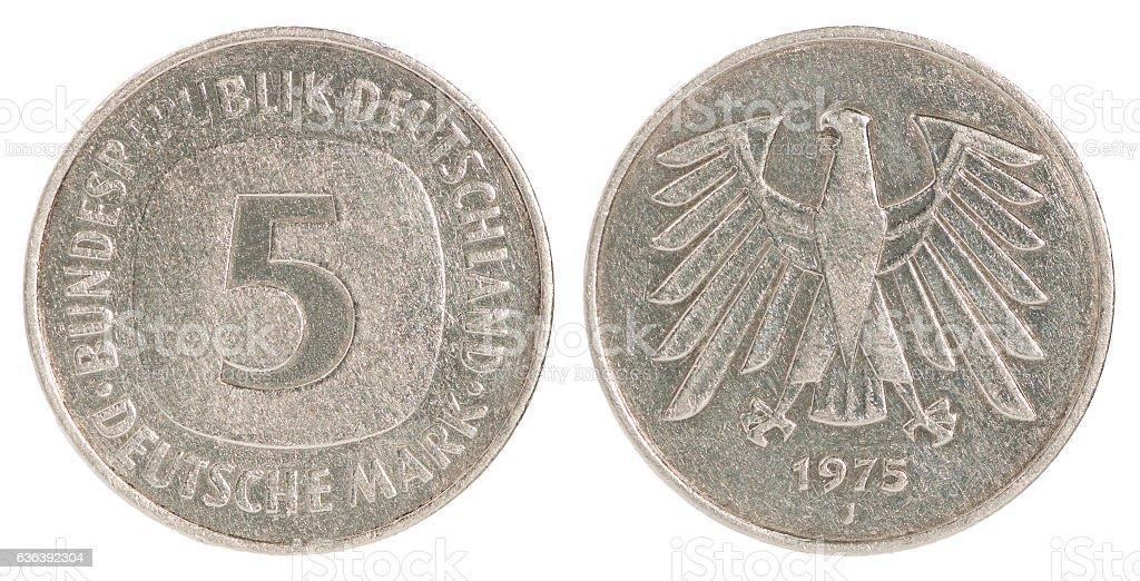 Deutsch Mark coin stock photo