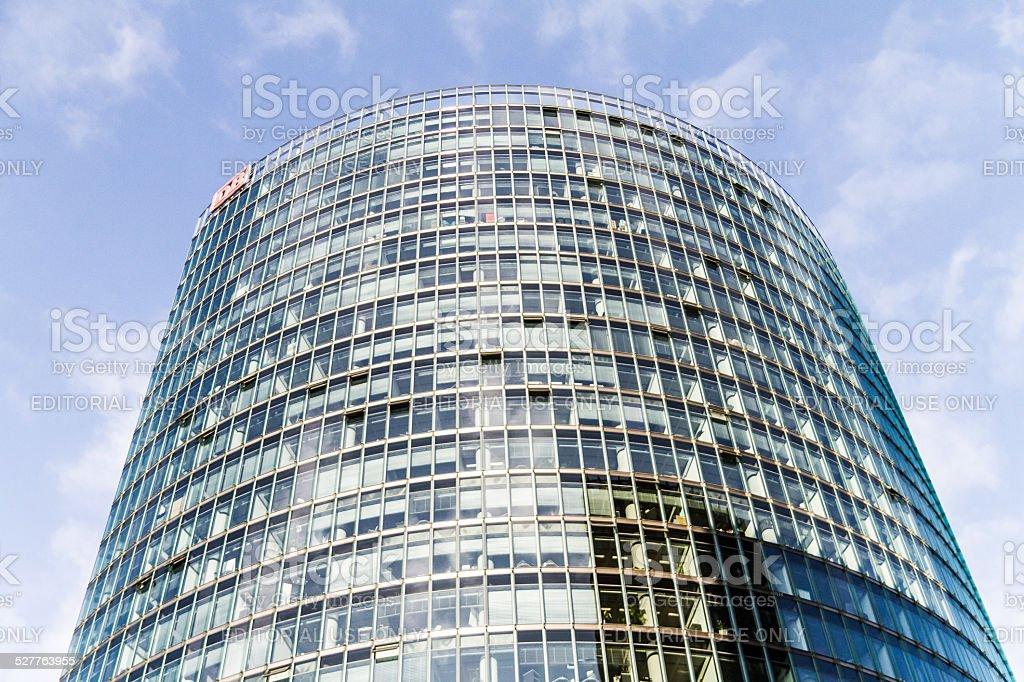 Deutsche Bahn Building at Potsdamer Platz in Berlin - Germany stock photo