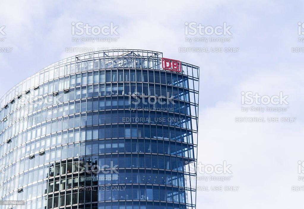 Deutsche Bahn Building in Detail at Potsdamer Platz in Berlin stock photo