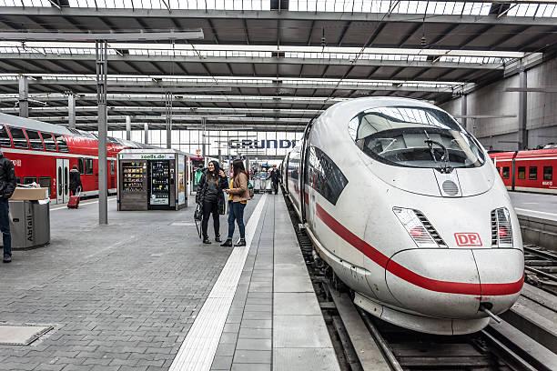 deutsche bahn ice intercity bullet train - munich train station bildbanksfoton och bilder