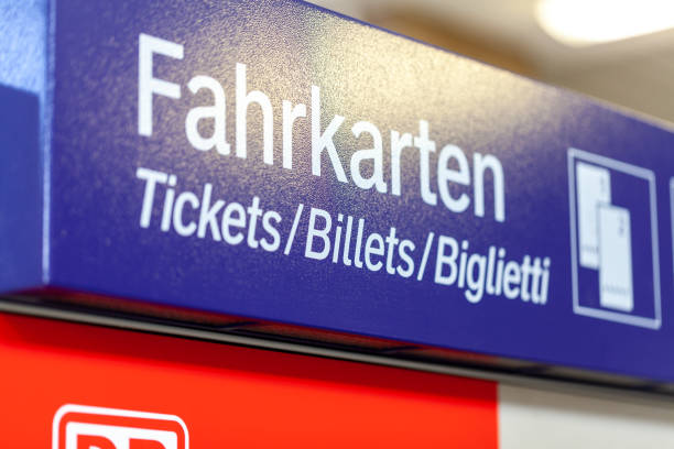 deutsche bahn ticket machine stands on  train station - biglietteria automatica foto e immagini stock