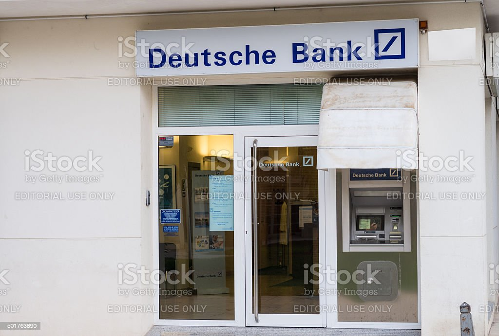 Deutsche Bank branch stock photo