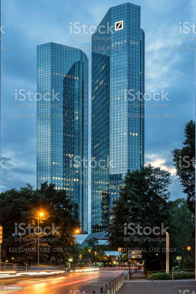 Deutsche Bank in Frankfurt Am Main stock photo
