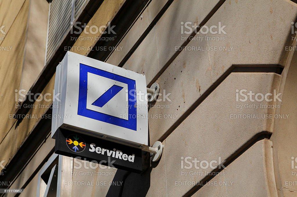Deutsche Bank Logo Stock Photo More Pictures Of Advertisement Istock