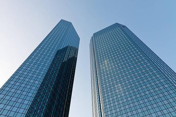 Deutsche Bank Towers in Ftrankfurt, Germany stock photo