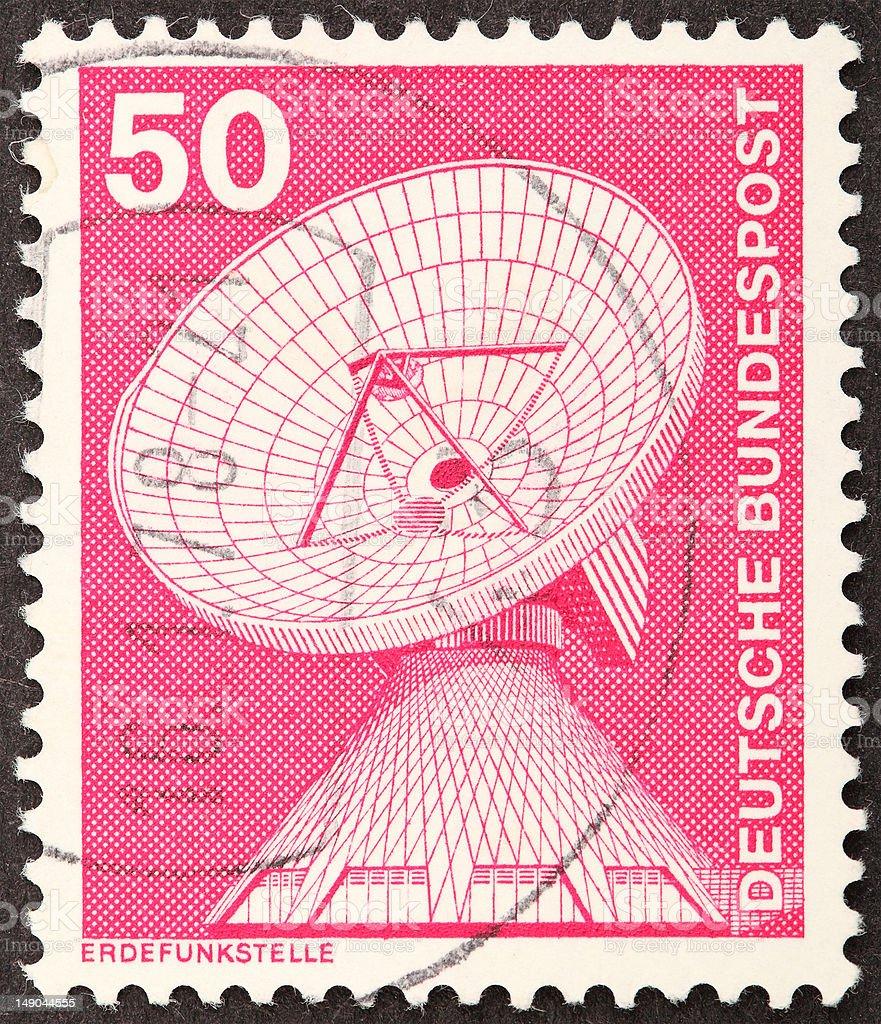 Deutsche Bundespost Erdefunkstelle stock photo