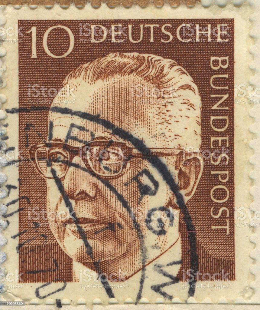 STAMP Deutsche Bundspost 10 stock photo