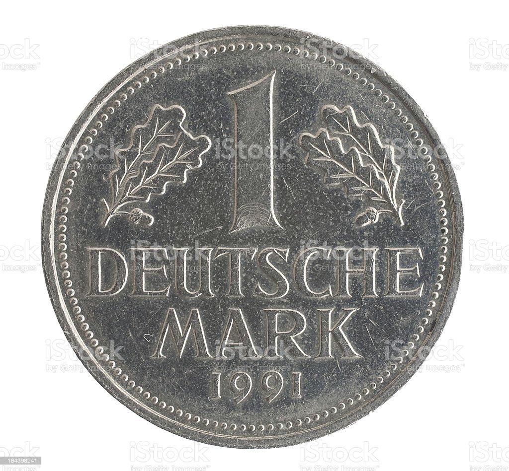 Deutsche Mark coin royalty-free stock photo