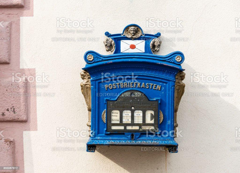 Deutsche Post Old-Fashioned Mailbox stock photo