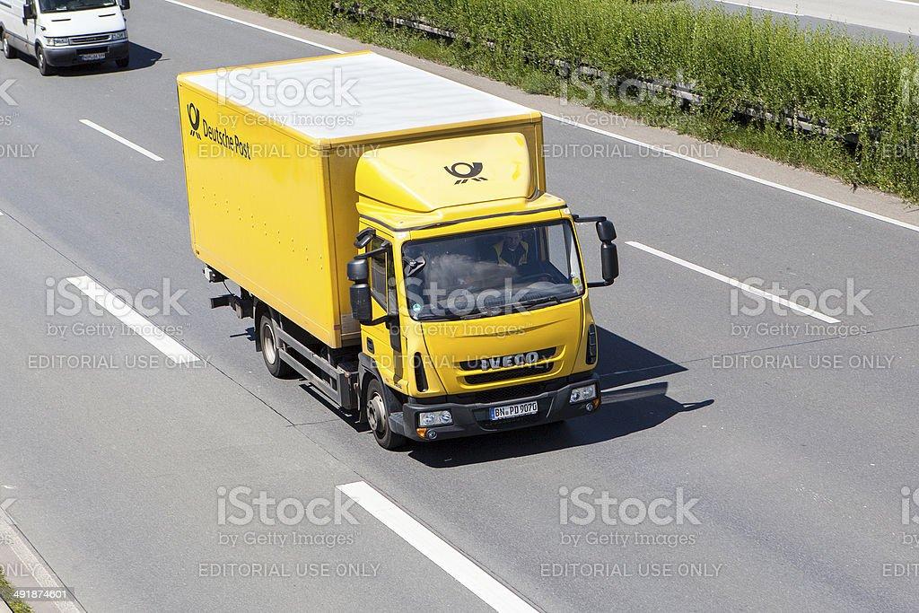 Deutsche Post truck stock photo