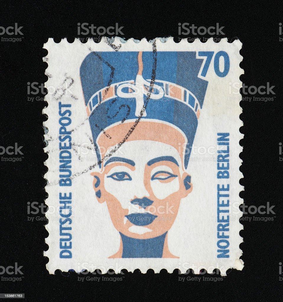 Deutsche postage stamp royalty-free stock photo