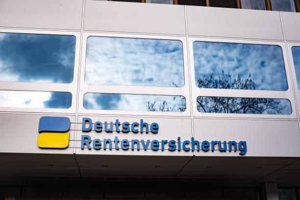 Deutsche Rentenversicherung building. stock photo