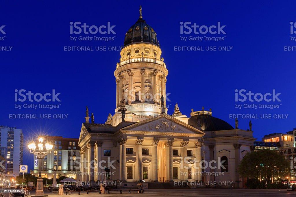 Deutscher Dom on the Gendarmenmarkt in Berlin stock photo
